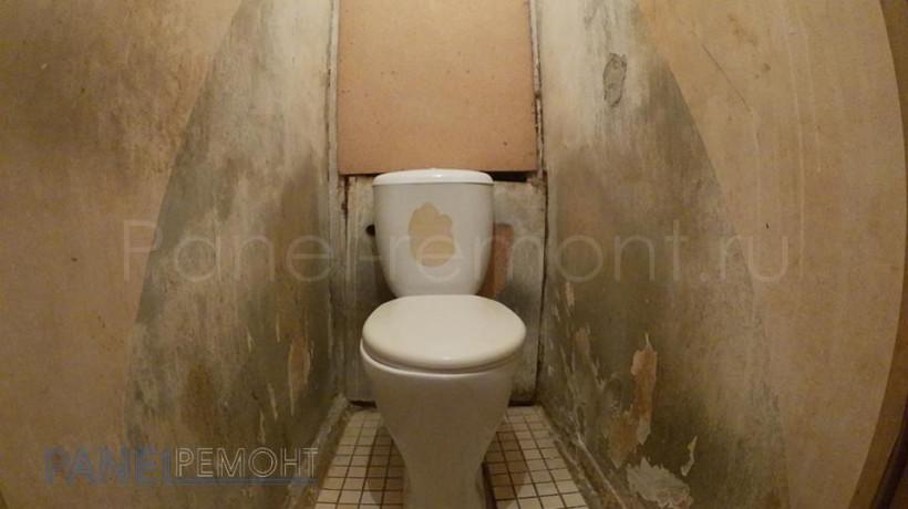 08. Ремонт туалета - До