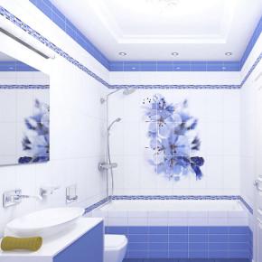 ПВХ-панель - Синий цветок